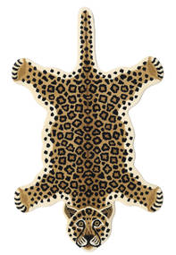 Leopard - Beige Rug 100X160 Modern Black/Light Brown (Wool, India)