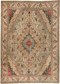 Tabriz Patina Rug 300X422 Authentic  Oriental Handknotted Light Brown/Brown Large (Wool, Persia/Iran)