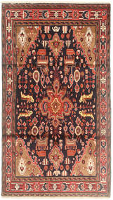 Hamadan Rug 115X208 Authentic Oriental Handknotted Dark Blue/Brown (Wool, Persia/Iran)