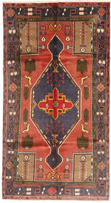 Koliai Rug 153X288 Authentic  Oriental Handknotted Hallway Runner  Light Brown/Dark Blue/Rust Red (Wool, Persia/Iran)