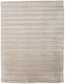 Bambou Grass - Beige Tapis 300X390 Moderne Gris Clair/Marron Clair Grand (Laine/Soie De Bambou, Inde)