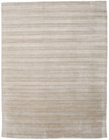 Bambus Grass - Beige Tæppe 300X390 Moderne Lysegrå/Lysebrun Stort (Uld/Bambus Silke, Indien)