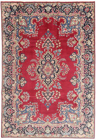 Kerman Rug 198X295 Authentic  Oriental Handknotted Light Grey/Crimson Red (Wool, Persia/Iran)