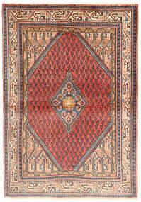 Sarough Matta 110X160 Äkta Orientalisk Handknuten Beige/Ljusbrun (Ull, Persien/Iran)