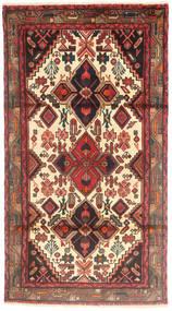 Hamadán Szőnyeg 100X190 Keleti Csomózású Sötétbarna/Bézs (Gyapjú, Perzsia/Irán)