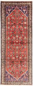 Hosseinabad Rug 105X295 Authentic  Oriental Handknotted Hallway Runner  Dark Red/Brown (Wool, Persia/Iran)
