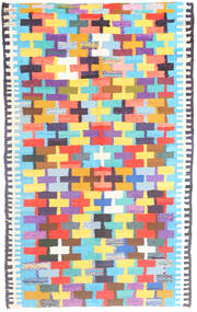 Kilim Rug 142X230 Authentic Oriental Handwoven Light Blue/Orange (Wool, Persia/Iran)