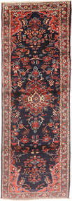 Hamadan Rug 105X300 Authentic  Oriental Handknotted Hallway Runner  Dark Grey/Dark Brown (Wool, Persia/Iran)