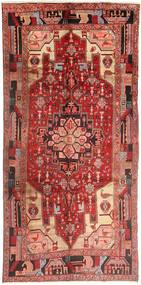 Nanadj Tapijt 150X310 Echt Oosters Handgeknoopt Tapijtloper Donkerrood/Bruin (Wol, Perzië/Iran)
