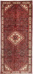Hosseinabad Rug 130X315 Authentic  Oriental Handknotted Hallway Runner  Dark Red/Brown (Wool, Persia/Iran)