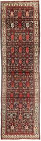Hosseinabad Teppich 105X408 Echter Orientalischer Handgeknüpfter Läufer Dunkelrot/Braun (Wolle, Persien/Iran)