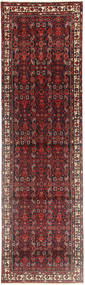 Hamadan Rug 110X400 Authentic  Oriental Handknotted Hallway Runner  Dark Red/Dark Brown (Wool, Persia/Iran)