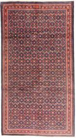 Sarouk Rug 158X307 Authentic  Oriental Handknotted Hallway Runner  Dark Purple/Light Grey (Wool, Persia/Iran)