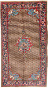 Koliai Rug 115X292 Authentic  Oriental Handknotted Hallway Runner  Brown/Light Grey (Wool, Persia/Iran)