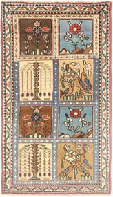 Sarough Matta 65X120 Äkta Orientalisk Handknuten Mörkbrun/Ljusbrun (Ull, Persien/Iran)