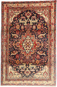 Bakhtiar Tæppe 103X162 Ægte Orientalsk Håndknyttet Mørkerød/Mørkeblå (Uld, Persien/Iran)