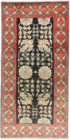 Tabriz Rug 100X207 Authentic  Oriental Handknotted Dark Grey/Dark Beige (Wool, Persia/Iran)