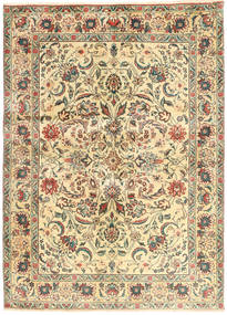 Tabriz Rug 140X190 Authentic Oriental Handknotted Beige/Yellow (Wool, Persia/Iran)
