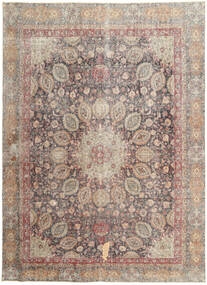 Colored Vintage Tapis 262X358 Moderne Fait Main Gris Clair/Marron Clair Grand (Laine, Perse/Iran)