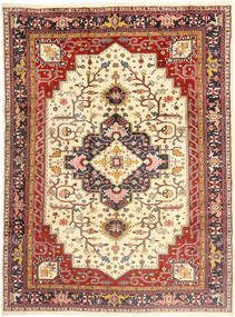 Heriz Rug 253X350 Authentic  Oriental Handknotted Light Brown/Beige Large (Wool, Persia/Iran)