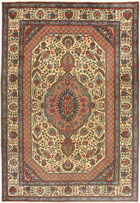 Tabriz Rug 204X300 Authentic  Oriental Handknotted Dark Grey/Dark Brown (Wool, Persia/Iran)