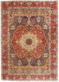 Tabriz Matta 213X300 Äkta Orientalisk Handknuten Ljusbrun/Mörkröd (Ull, Persien/Iran)