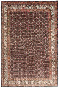 Moud Rug 193X295 Authentic  Oriental Handknotted Light Brown/Dark Brown (Wool/Silk, Persia/Iran)