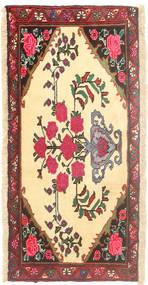 Rudbar Matta 45X98 Äkta Orientalisk Handknuten Beige/Gul (Ull, Persien/Iran)