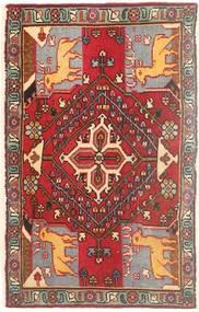 Meimeh Matta 55X93 Äkta Orientalisk Handknuten Mörkröd/Ljusbrun (Ull, Persien/Iran)