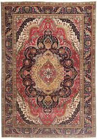 Tabriz Patina Matto 210X297 Itämainen Käsinsolmittu Vaaleanruskea/Tummanruskea (Villa, Persia/Iran)