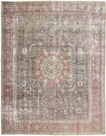 Colored Vintage Tapis 297X375 Moderne Fait Main Gris Clair Grand (Laine, Perse/Iran)
