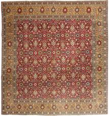 Tabriz Patina Rug 300X313 Authentic  Oriental Handknotted Square Light Brown/Brown/Dark Red Large (Wool, Persia/Iran)