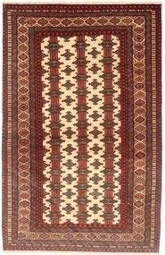 Turkaman Matta 98X155 Äkta Orientalisk Handknuten Mörkröd/Brun (Ull, Persien/Iran)