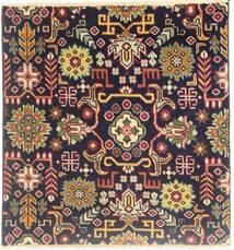 Tabriz Matto 77X80 Itämainen Käsinsolmittu Neliö Vaaleanruskea/Tummansininen (Villa, Persia/Iran)
