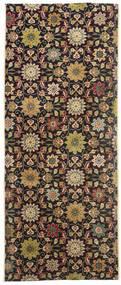 Tabriz Matta 80X200 Äkta Orientalisk Handknuten Hallmatta Mörkröd/Brun (Ull, Persien/Iran)
