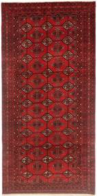 Turkaman Rug 95X195 Authentic  Oriental Handknotted Dark Red (Wool, Persia/Iran)