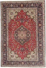 Tabriz Patina Tæppe 200X305 Ægte Orientalsk Håndknyttet Mørkerød/Mørkebrun (Uld, Persien/Iran)
