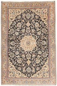 Nain 9La Teppe 90X137 Ekte Orientalsk Håndknyttet Lysbrun/Lyserosa (Ull/Silke, Persia/Iran)