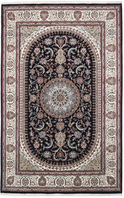 Nain Indo Rug 195X305 Authentic  Oriental Handknotted Dark Brown/Light Grey ( India)