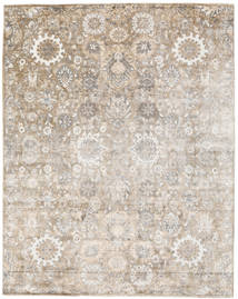 Wool/Bambusilk Loom - Indo Rug 235X297 Authentic  Modern Handknotted Light Grey/Light Brown (Wool/Bamboo Silk, India)