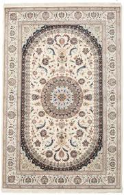 ナイン インド 絨毯 199X306 オリエンタル 手織り ベージュ/薄い灰色/薄茶色 ( インド)