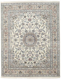 Nain Indo Rug 244X310 Authentic Oriental Handknotted Light Grey/Beige ( India)