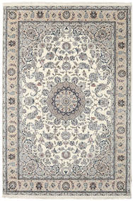 Nain Indo Rug 206X306 Authentic  Oriental Handknotted Beige/Light Grey/Dark Grey ( India)