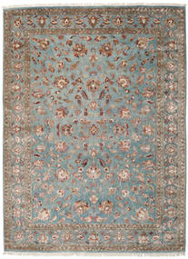 Keshan Indo Wool/Viscos Rug 248X334 Authentic  Oriental Handknotted Light Grey/Dark Grey (Wool/Silk, India)