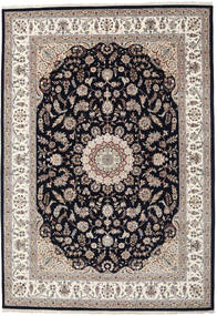 Nain Indo Rug 255X359 Authentic  Oriental Handknotted Light Grey/Black Large ( India)