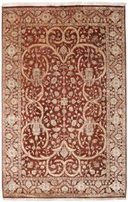 Keshan Indisk Ull/Viscos Teppe 192X296 Ekte Orientalsk Håndknyttet Lysbrun/Mørk Rød (Ull/Silke, India)