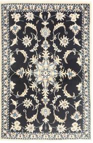 ナイン 絨毯 89X139 オリエンタル 手織り 紺色の/ベージュ (ウール, ペルシャ/イラン)