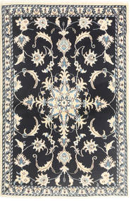 Nain Matta 89X139 Äkta Orientalisk Handknuten Mörkblå/Beige (Ull, Persien/Iran)