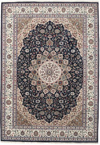 Nain Indo Rug 250X355 Authentic  Oriental Handknotted Light Grey/Dark Grey Large ( India)