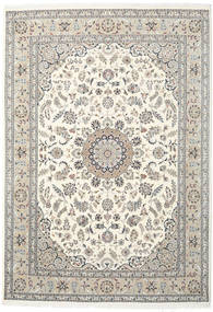 Nain Indo Rug 244X350 Authentic  Oriental Handknotted Beige/Light Grey ( India)